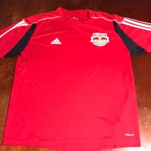 New York Redbulls Soccer Jersey Large men's red